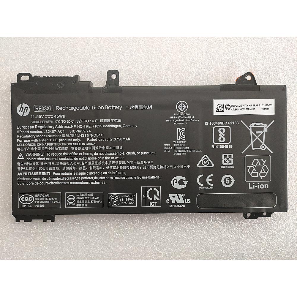 3750mAh/45WH Batterie pour HP ProBook 430 G6