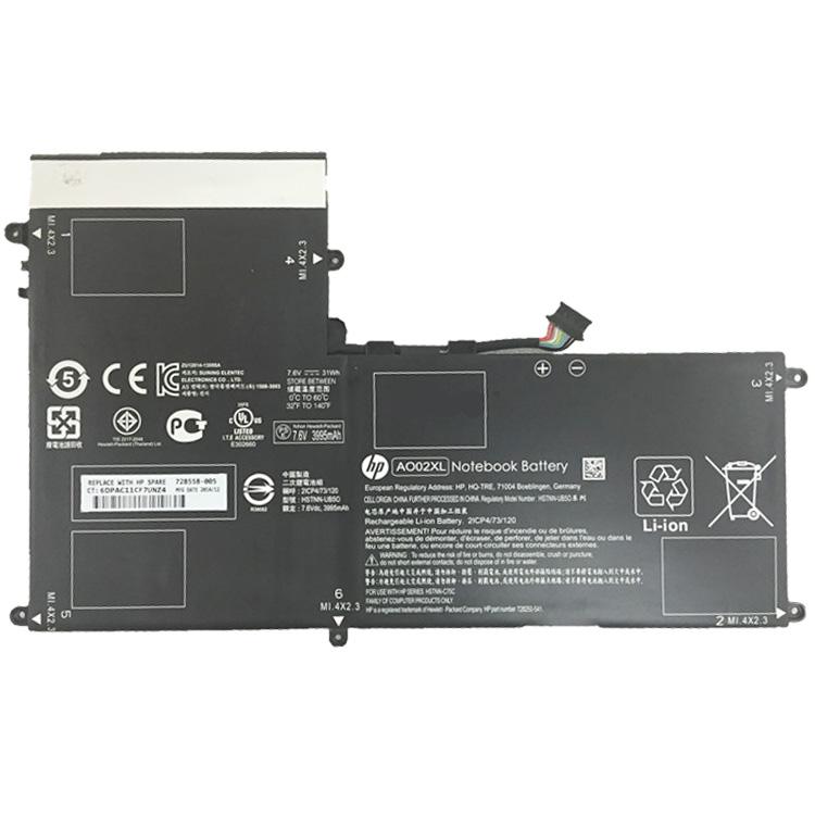 31Wh Batterie pour HP ElitePAD 1000 G2